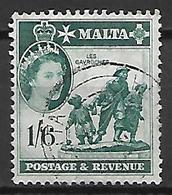 MALTE    -   1956 .   Y&T N° 250 Oblitéré . - Malte (...-1964)