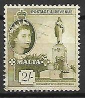 MALTE    -   1956 .   Y&T N° 251 Oblitéré . - Malte (...-1964)