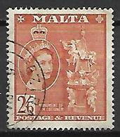 MALTE    -   1956 .   Y&T N° 252 Oblitéré . - Malte (...-1964)