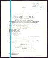 Devotie - Doodsbrief - Overlijden - Richard De Lille - Maldegem 1889 - Sijsele 1973 - Décès