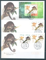 AUSTRALIA  - 3 FDC'S - 22.3.1996 - CUSCUS JOINT STAMP ISSUE INDONESIA - Yv 1491-1492 BLOC 38 - Lot 18634 - Premiers Jours (FDC)