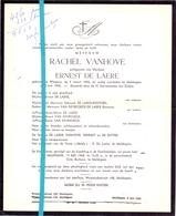 Devotie - Doodsbrief - Overlijden - Rachel Vanhove Vrouw Ernest De Laere - Wingene 1896 - Maldegem 1968 - Décès
