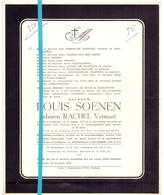 Devotie - Doodsbrief - Overlijden -Mevr Louis Soenen - Rachel Vermast - Maldegem 1877 - 1959 - Décès