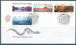 AUSTRALIA  - FDC - 14.3.1996 - WORLD HERITAGE LANDSCAPES - Yv 1493-1496 - Lot 18635 - FDC