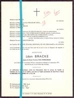 Devotie - Doodsbrief - Overlijden - Leon Bracke - Gand Gent 1913 - 1971 - Décès