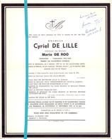 Devotie - Doodsbrief - Overlijden - Cyriel De Lille - Maldegem 1892 - Dilbeek 1966 - Décès