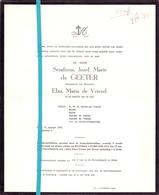 Devotie - Doodsbrief - Overlijden - Serafinus De Geeter - Eede 1973 - Décès