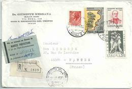 Lettre Recommandée D'Italie - étiquette De Mise En Instance De Nantes Préfecture - Postmark Collection (Covers)