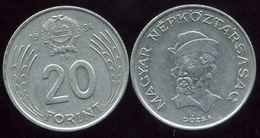 HONGRIE 20 Forint  1984 - Hongrie