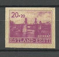 Estland Estonia 1941 German Occupation Michel 5 U MNH - Estonie