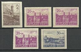 Estland Estonia 1941 Lot German Occupation Michel 4 - 6 U, Mint - Estonie