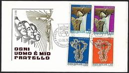 1971 - VATICANO - FDC - Y&T 518/521 + POSTE VATICANE - FDC