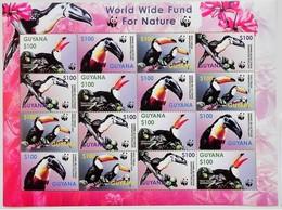 Guyana 2003** Klb.7626-29.Toucan MNH [3;7] - Birds
