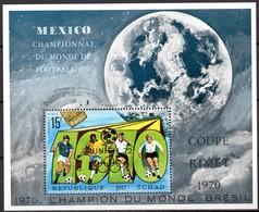 Tschad  Block WM Mexiko 1970 Goldaufdruck München 72 - 1970 – Mexique