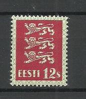 ESTLAND Estonia 1928 Michel 80 Thin Paper Type * - Estonia