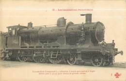 Cie ORLEANS - Machine 4000 à 4015 Pour Trains De Grande Vitesse - Les Locomotives  , Ed. Fleury - 2 Scans - Matériel