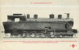 Cie ORLEANS - Machine 5503 Pour Trains Petits Parcours Fortes Rampes - Les Locomotives  , Ed. Fleury - 2 Scans - Matériel