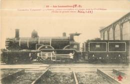Cie ORLEANS - Machine Série 1 2 5 Pour Trains De Grande Vitesse - Les Locomotives  , Ed. Fleury - 2 Scans - Matériel