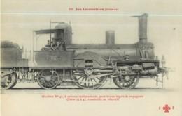 Cie ORLEANS - Machine 47 Pour Trains Légers De Voyageurs - Les Locomotives  , Ed. Fleury - 2 Scans - Matériel
