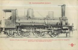 Cie ORLEANS - Machine 535 Pour Trains De Voyageurs - Les Locomotives  , Ed. Fleury - 2 Scans - Matériel