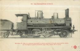 Cie ORLEANS - Machine 1806 Pour Trains Service Mixte - Les Locomotives  , Ed. Fleury - 2 Scans - Matériel