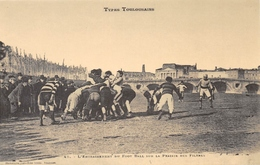 Types Toulousains - L'Entraînement Du Foot-Ball Sur La Prairie Des Filtres - Rugby - Cecodi N'1167 - Toulouse