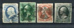 USA / 1870 Ff. / 4 Werte Ex Mi. 36-45 O (1/480) - 1847-99 Unionsausgaben