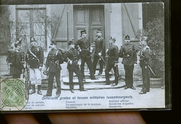 LUXEMBOURG DIFFERENTS GARDES MILITAIRE                          JLM - Luxembourg - Ville