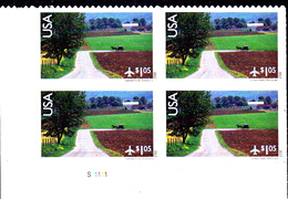 USA Pa 2012  Paysage Du Lancaster ( Bloc De 4 BDF ) - Poste Aérienne
