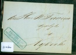 HANDGESCHREVEN BRIEF Uit 1851 Gelopen Van ARNHEM Naar NIJKERK * FIRMASTEMPEL  (11.460) - Niederlande