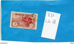 """France-N° 231-1fr+5c-1926 Orphelins De Guerre Oblitéré- Cote 48eu  """" - France"""