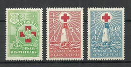 Estland Estonia 1931 Light Houses Michel 90 - 92 * - Estonia