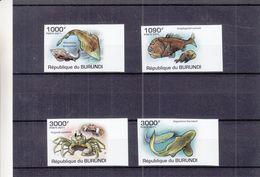 Burundi - COB 1222 / 5 ** - NON Dentelé - Poissons - Requins - Crabes - Valeur 37 Euros - Burundi