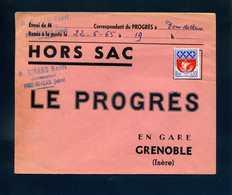 Hors Sac Le Progrès Grenoble Pont De Claix Isère 1965 1354B Armoiries Paris Tarif 30c Non Oblitéré - Postmark Collection (Covers)