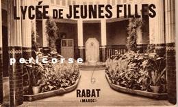 Rabat  Lycée De Jeunes Filles  Carnet De 12 Cartes - Rabat