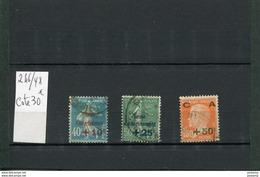 France- 1927-N°246-8 Série  Caisse D'amortissement  -oblitérés Cote 30 Eu - France