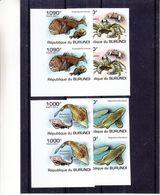 Burundi - COB 1222 / 5 ** - NON Dentelé - Poissons - Requins - Crabes - En Paire - Valeur 74 Euros - Burundi