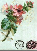 CHROMO  GAUFREE  LONDON- WC DE 25  TRES BELLES FLEURS - Kaufmanns- Und Zigarettenbilder