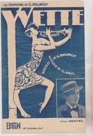 (GEO1)YVETTE ,  BERTAL , Paroles PHILIPPOT ; Musique CLAUDE ARYL - Scores & Partitions