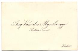 Visitekaartje - Carte Visite - August Van Der Mynsbrugge - Haaltert - Cartes De Visite