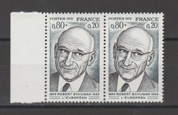 FRANCE / 1974 / Y&T N° 1826 ** : Robert Schuman X 2 En Paire - Gomme D'origine Intacte - France