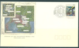 AUSTRALIA  - FDC - 8.4.1994 - FRIENSHIP BRIDGE THAILAND LAOS - Yv 1358  - Lot 18640 - Premiers Jours (FDC)