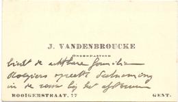 Visitekaartje - Carte Visite - Onderpastoor J. Vandenbroucke - Gent - Cartes De Visite