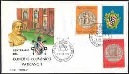 1970 - VATICANO - FDC - Y&T 502/504 [Vaticanum I] + POSTE VATICANE - FDC