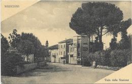 Perugia Marsciano  Cartolina Fp Viagg Viale Della Stazione  1954 - Perugia