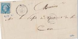 CORSE : N° 22   /L  (. ) GC 4647 De LEVIE / 1.11.67 ->Ajaccio/CORSE : Marseille     ( Pothion Indice 19 ) - Marcophilie (Lettres)