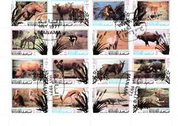 MANAMA - AJMAN - BAHREÏN / PLANCHE De 16 TIMBRES ANIMAUX SAUVAGES - Bahreïn (1965-...)