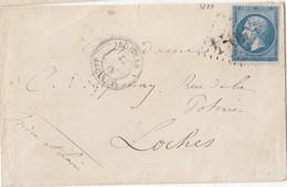 ALGERIE:: N° 22   /L  (. ) GC  De BOGHAR / 17.3.68 ->LOCHES+ Cad Au Dos     ( Pothion Indice 18 ) - Marcophilie (Lettres)