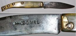 BON COUTEAU Ancien. Agenais, Gimel Au Violon Ct1561 - Knives/Swords