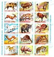 GUINEE EQUATORIALE / PLANCHE De 15 TIMBRES ANIMAUX - Guinea Equatoriale